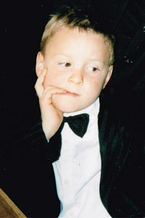 Simeon Wutte als Kind